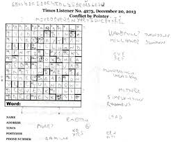 January 2014 George Versus The Listener Crossword