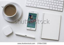 chiang maithailand february 13 2016 apple iphone 6s showing tumblr website apple thailand office