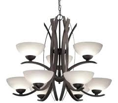 allen roth candle chandelier brushed nickel candle