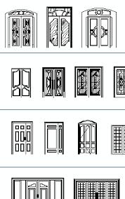 largue doors cad blocks