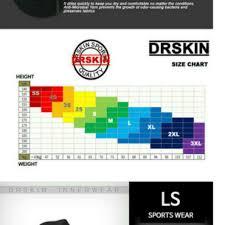 Drskin Compression Size Chart Drskin Compression Rashguard And Pants