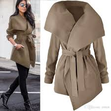 2019 whole 2017 autumn winter women s elegant trench coat long outerwear loose clothes for lady good quality trench female coat windbrea from yerter