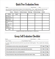Evaluation Form Template Sample Group Activity Evaluation Template 6 Free Documents