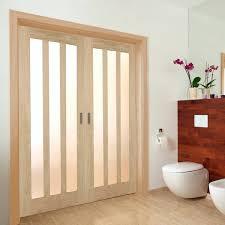oak aston frosted glass internal door pair