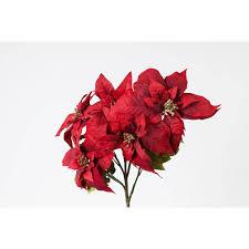 Möbel Wohnen Weihnachtsstern Poinsettie Künstlich 70cm