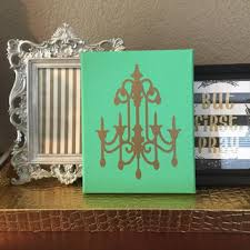 custom hand painted mint green canvas gold chandelier canvas 8 x 10 canvas wall art nursery on seafoam green and gold wall art with best mint wall paint products on wanelo