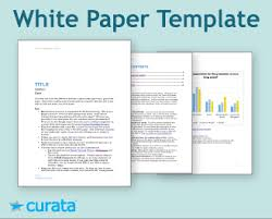 White Paper Templates Tools White Paper Template Curata