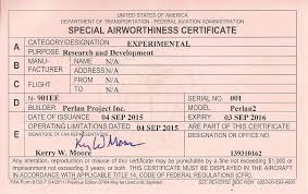 faa form 8130 7 airbus perlan 2 gets airworthiness certificate the official