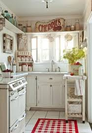 Red And White Kitchens 50 Fabulous Shabby Chic Kitchens That Bowl You Over