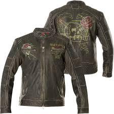 affliction leather jacket fast motors black