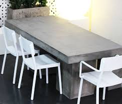 polyethylene furniture. manhattan concrete outdoor table with lisboa white polyethylene chairs available from watergarden warehouse furniture c