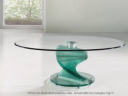 modern italian oval glass top coffee table