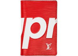 louis vuitton x supreme phone case. louis vuitton x supreme pocket organizer epi red phone case