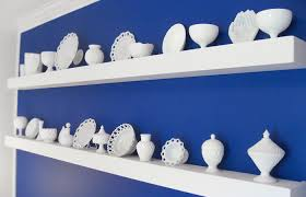 display of a milk glass collection via wikimedia commons