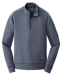 Custom Design 1 4 Zip Sweatshirts New Era Tri Blend Fleece 1 4 Zip Pullover