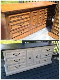 restoring furniture ideas. I Probably Run Across This Style Dresser At Least Monthly! Kicking Ass Crafting: Refinishing Furniture - Love The Idea Of Painting Top Black Color Restoring Ideas Y