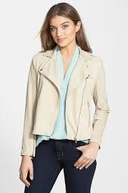 image of vince camuto asymmetrical zip suede moto jacket