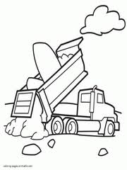 Trucks, planes and cars coloring book: Dump Truck Coloring Pages Free Printable Pictures 55