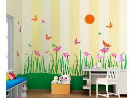 childrens bedroom wall painting ideas lovely kids design room garden murals canvas art anese garden