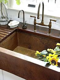 hammered copper farmhouse sink. Hammered Copper Farmhouse Sink And Grooved Kitchen Double