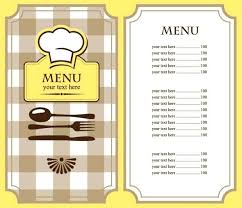 Restaurant Menu Template Free Word Helenamontana Info