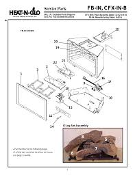 fb in cfx in b service parts heat glo fireplace heat n glo fb in user manual page 7 23