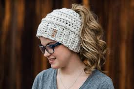 Ponytail Beanie Crochet Pattern Unique Free Crochet Pattern Beehive Messy Bun Hat Crochetpreneur