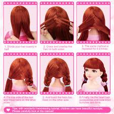 Us 270 25 Offstilvolle Haar Stylist Puppe Spielzeug Friseur Kopf Puppe Dummy Frisuren Lange Haar Und Natürliche Mannequin Kopf Für Make Up
