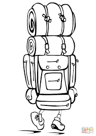 Small Picture Camping Backpack coloring page Free Printable Coloring Pages