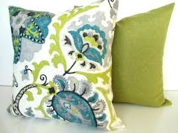 blue and green throw pillows. Gray Pillow Covers Turquoise And Pillows Teal Blue Throw Lime Green