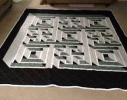 Labyrinth quilt | Etsy & Queen labyrinth path quilt Adamdwight.com
