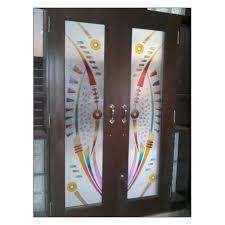 glass door pooja room glass door