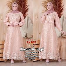 Bahan brokat + scuba lingkar dada : Dress Brokat Muslim Modern Home Facebook