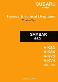 subaru sambar english factory electrical diagrams by james danko subaru sambar english factory electrical diagrams
