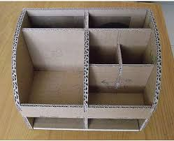 how to diy cardboard desktop organizer with drawers