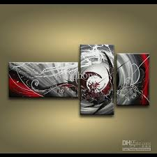 2018 framed 3 panels 100 handmade high end large 3 panel wall art black white and red abstract painting home decor picture xd01242 from sonphone  on large 3 panel wall art with 2018 framed 3 panels 100 handmade high end large 3 panel wall art