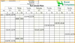 Online Shift Schedule Maker Free Online Work Schedule Template