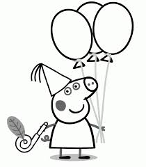 Small Picture Peppa Pig Birthday Coloring Page Kid Coloring Pinterest