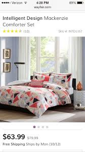 the intelligent design alicia duvet cover set brings fun and modern together with this triangle design printed on microfiber the triangles use taupe