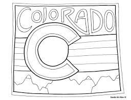 Colorado Coloring Page By Doodle Art