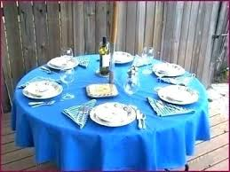 round outdoor tablecloth with umbrella hole round outdoor tablecloths vinyl tablecloth with umbrella hole designs elastic