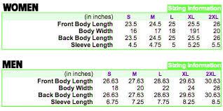 Gildan Soft Style Size Chart