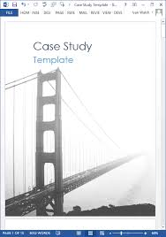 Case Study Template 19 Case Study Templates Ms Word How To Write Tutorial