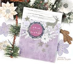 Purple Christmas Card Scrap Escape Purple And Silver Christmas Cards