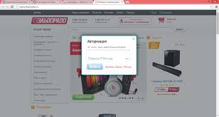 Совершенствование электронной торговли ООО Эльдорадо  Рисунок 6 Авторизация на сайте eldorado ru