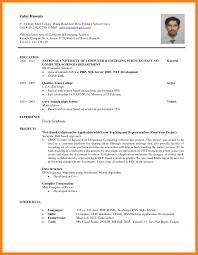 Simple Resume Sample For Fresh Graduate Template S