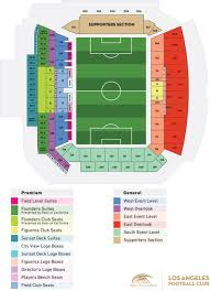 Galaxy Seating Chart Stadium Seating Map Los Angeles Football Club