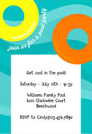 Just change the text on the design and add the details of your party. Pool Party Invitation Template Free Vector N Clip Art