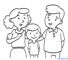Những mẫu tranh tô màu gia đình đẹp nhất cho các bé