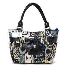 Coach Poppy Bowknot Signature Medium Navy Totes AVP Cheap Coach Handbags,  Cheap Designer Handbags,